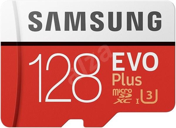 Samsung MicroSDXC 128GB EVO Plus UHS-I U3 + SD adapter - Memóriakártya