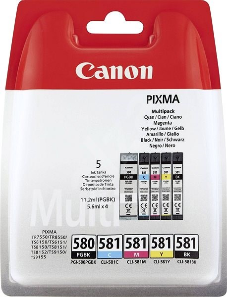 Canon PGI-580PGBK/CLI-581BK/C/M/Y MultiPack - Tintapatron
