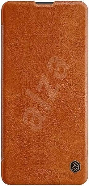 Nillkin Qin tok Samsung Galaxy Note 10 Lite készülékhez, barna - Mobiltelefon tok