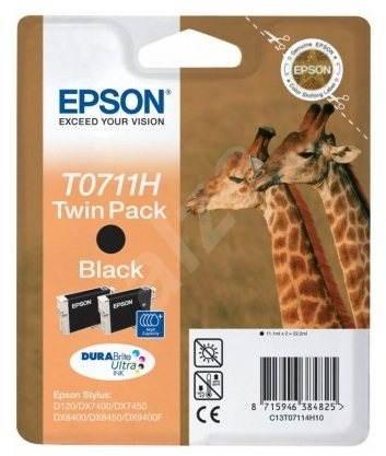 Epson T0711H Tintapatron dupla csomag fekete - Tintapatron