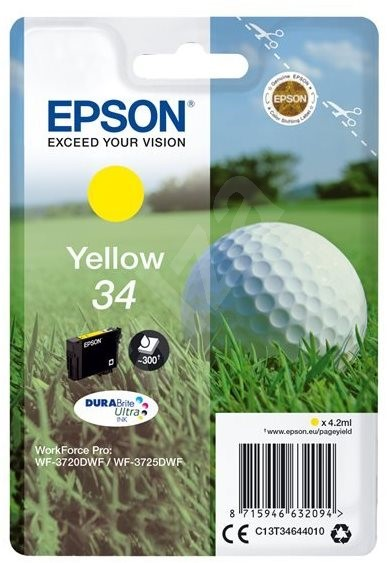 Epson T3464 sárga - Tintapatron