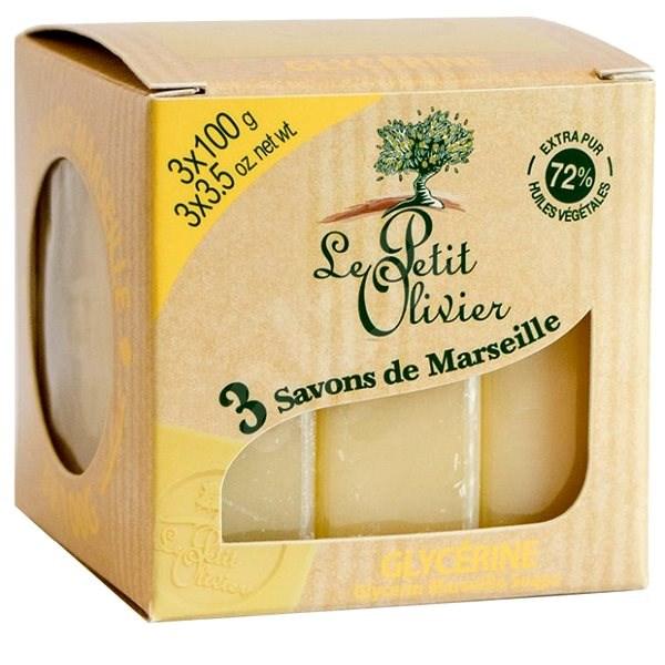 LE PETIT OLIVIER Marseille szappan - Glicerin 3×100 g - Szappan