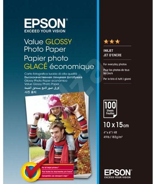 EPSON Value Glossy Photo Paper 10x15cm 100 lap - Fotópapír