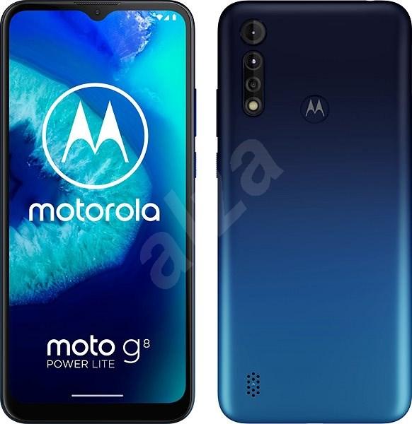 Motorola Moto G8 Power Lite 64GB Dual SIM - kék - Mobiltelefon