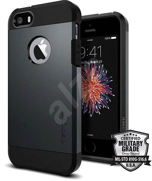 SPIGEN Tough Armor Metal Slate iPhone SE / 5s / 5 - Mobiltelefon hátlap