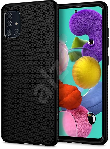 Spigen Liquid Air Black Samsung Galaxy A51 - Mobiltelefon hátlap