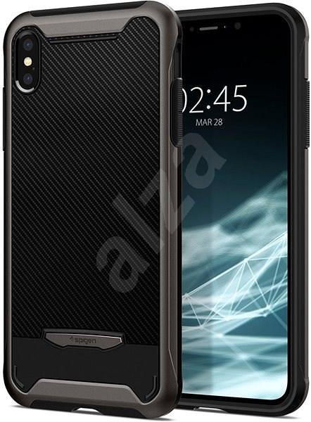 Spigen Hybrid NX Gunmetal iPhone XS Max - Mobiltartó