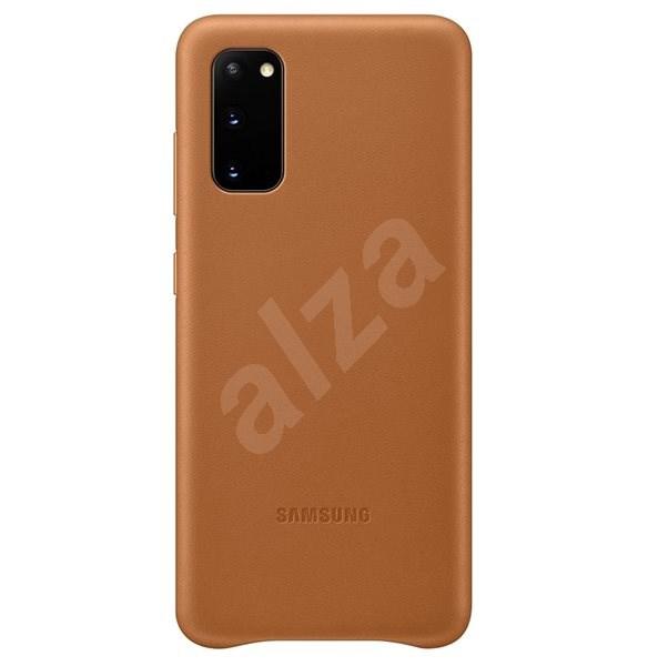 Samsung bőr hátlap tok Galaxy S20 készülékhez, barna - Mobiltelefon hátlap
