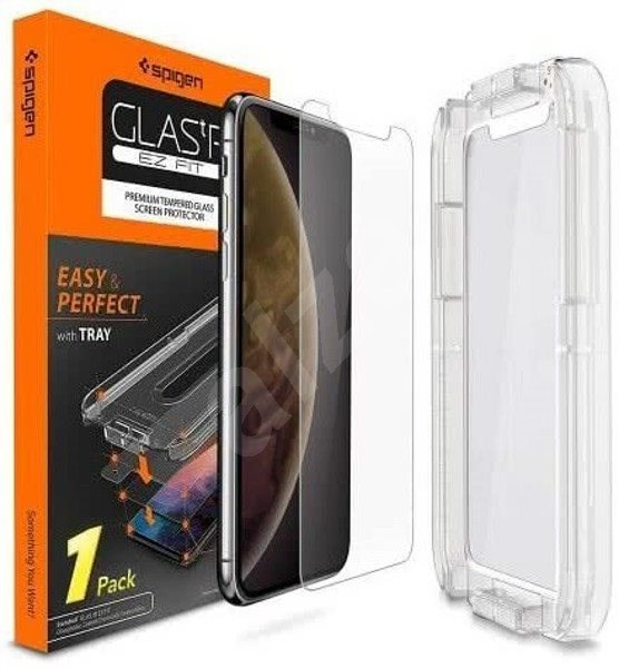 Spigen Glas.tR EZ Fit iPhone XS/X - Képernyővédő