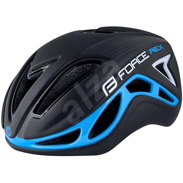 Force REX - fekete-kék, L-XL, 58-61 cm - Kerékpáros sisak