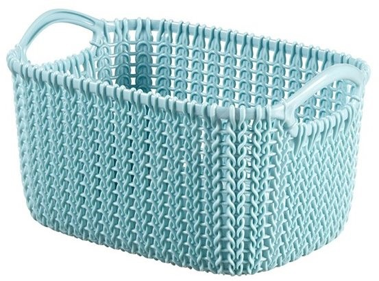 Curver Knit tároló kosár 3L - kék - Tárolódoboz