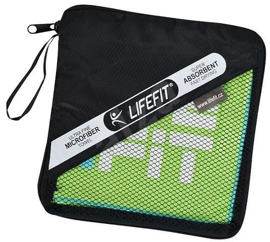 Lifefit törülköző, méret: 70 x 140 cm, zöld színű - Törölköző