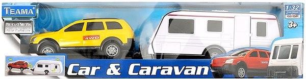 1:32 méretarányos autókaraván készlet - Játékautó