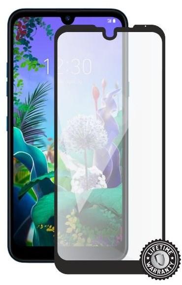 Screenshield LG Q60 (full COVER black) - Képernyővédő