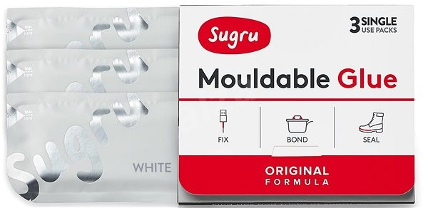 Sugru formázható 3 csomag - fehér szín - Adalék
