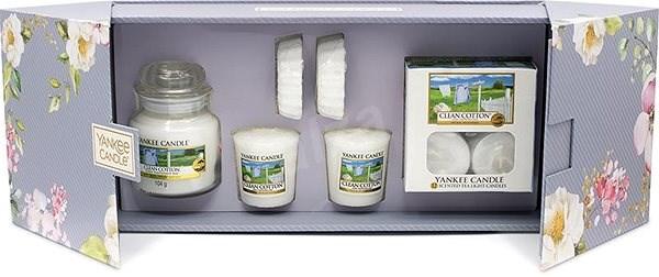 YANKEE CANDLE Garden Hideaway Set Clean Cotton - Ajándékcsomag