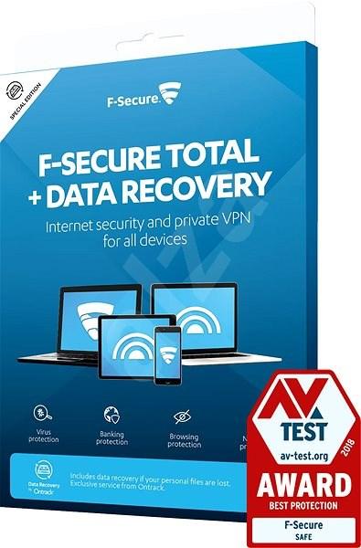 F-Secure TOTAL DR 1 készülékhez 1 évre + Data Recovery 3 készülékhez 1 évre (elektronikus licenc) - Antivírus szoftver