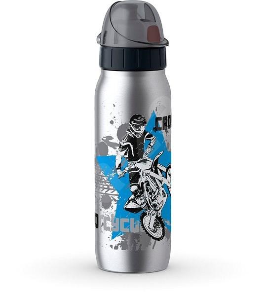 Tefal Vákuum rozsdamentes acél palack 0,5 liter ISO2GO rozsdamentes acél motokrossz mintával K3182112 - Kulacs