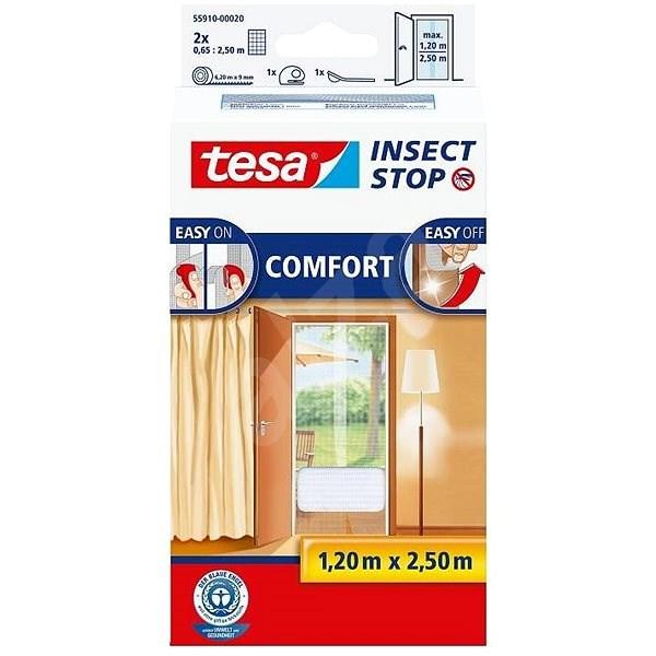 tesa Szúnyogháló COMFORT, ajtóra, fehér - Szúnyogháló