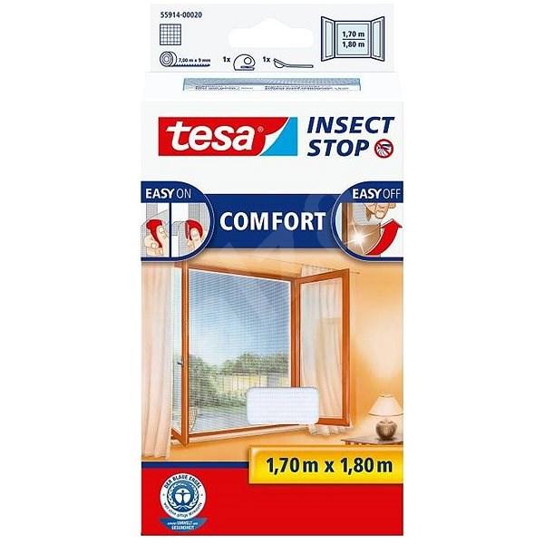 tesa Szúnyogháló COMFORT, ablakra, fehér - Szúnyogháló
