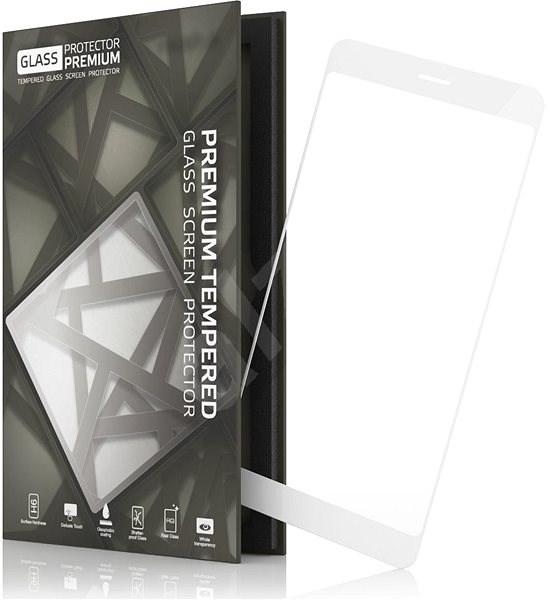 Tempered Glass Protector Honor 6A fehér készülékhez keretes - Képernyővédő