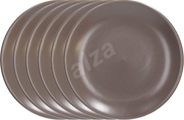 Tognana Desszert tányér készlet 20cm FABRIC TORTORA 6db, barna - Tányérkészlet
