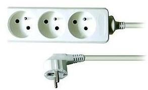 Solight hosszabbító kábel, 3 csatlakozóaljzat, fehér, 1.5m - Hosszabbító