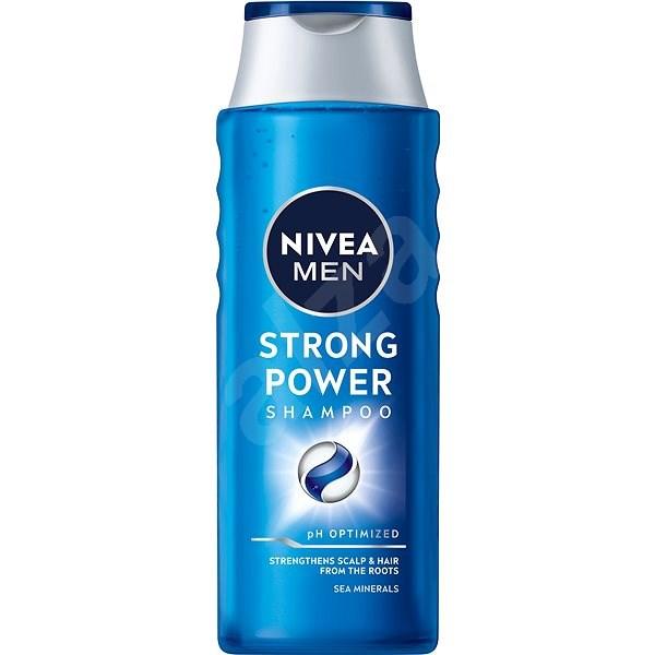 NIVEA MEN Strong Power sampon 400 ml - Férfi sampon
