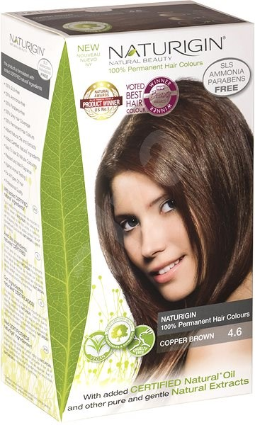 NATURIGIN Copper Brown 4.6 (40 ml) - Természetes hajfesték