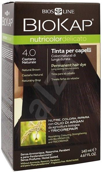 BIOKAP Nutricolor Delicato Brown Gentle Dye 4.00 140 ml - Természetes hajfesték