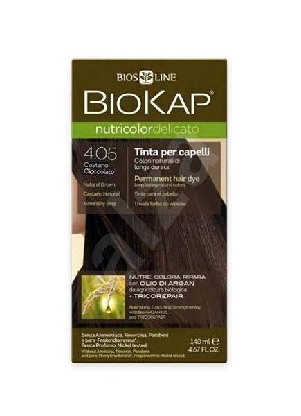 BIOKAP Nutricolor Delicato, Chocolate Chestnut Gentle Dye, 4.05, 140 ml - Természetes hajfesték
