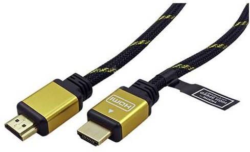 Arany ROLINE HDMI High Speed Ethernet  (HDMI M <-> HDMI M), aranyozott csatlakozók, 15m - Videokábel