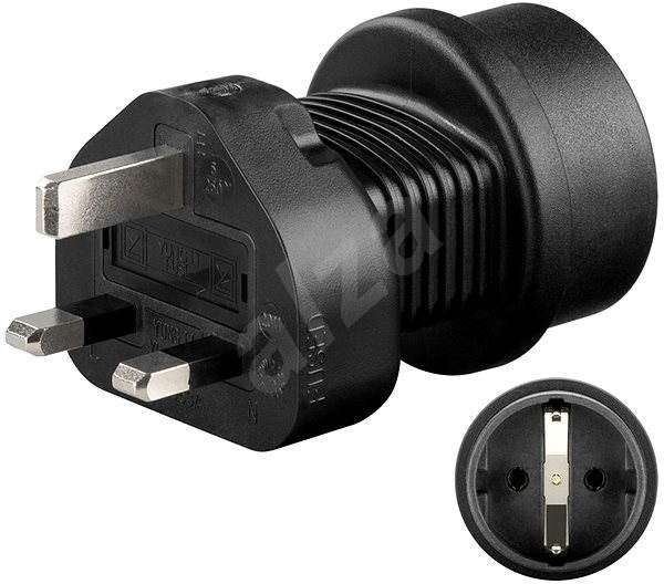 Goobay UK/ EU fekete - Úti adapter