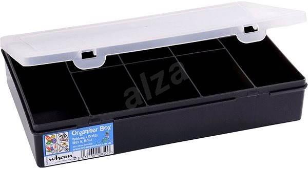 Wham tároló doboz 29x19x5,5cm fekete 12840 - Szerszám rendszerező