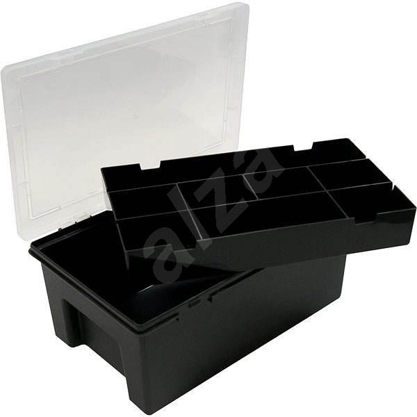 Wham tároló doboz 29x19x11,5cm fekete 12930 - Szerszám rendszerező