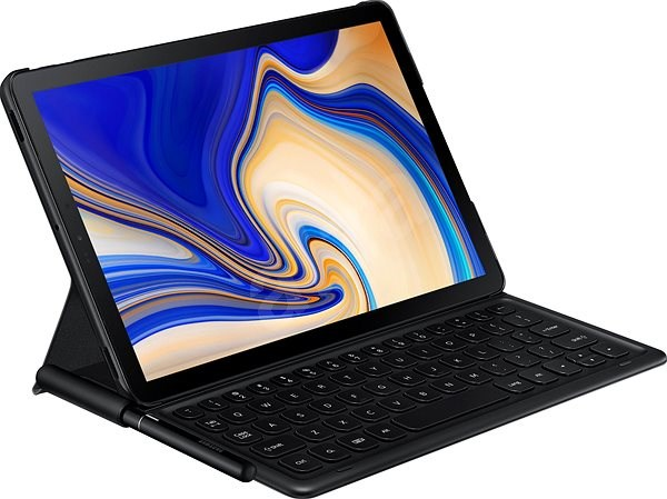 Samsung Galaxy Tab S4 Bookcover Keyboard fekete - Tablet tok