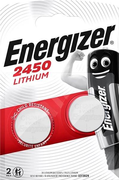 Energizer Lítium gombelem CR2450 2 db - Gombelem