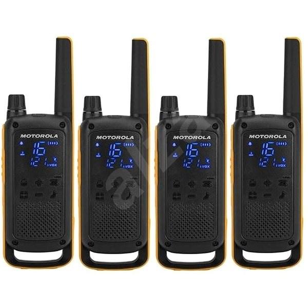 Motorola TLKR T82 Extreme, Quadpack, sárga / fekete - Walkie Talkie