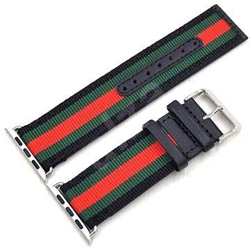 Eternico 38mm / 40mm Nylon Band fekete-piros Apple Watch-hoz - Szíj