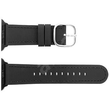 Eternico 42mm / 44mm Leather fekete Apple Watch-hoz - Szíj