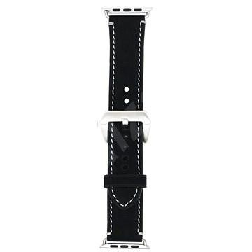 Eternico 38mm / 40mm Leather Band 2 fekete Apple Watch-hoz - Szíj