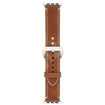 Eternico 42mm / 44mm Leather Band 2 barna Apple Watch-hoz - Szíj