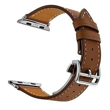 Eternico 42mm / 44mm Leather Strap barna Apple Watch-hoz - Szíj