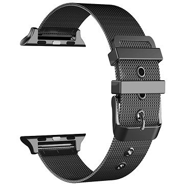 Eternico 38mm / 40mm Mesh Metal Band fekete Apple Watch-hoz - Szíj