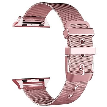 Eternico 38mm / 40mm Mesh Metal Band rózsaszín Apple Watch-hoz - Szíj