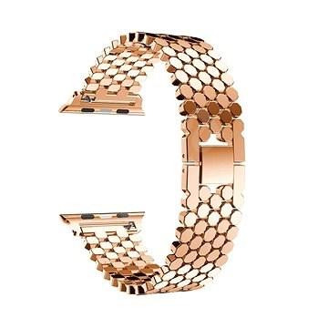 Eternico 38mm / 40mm Metal Band rózsaszín-arany Apple Watch-hoz - Szíj