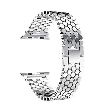 Eternico 42mm / 44mm Metal Band ezüst Apple Watch-hoz - Szíj
