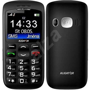 Aligator A670 Senior Black - Mobiltelefon