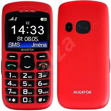 Aligator A670 Senior Red - Mobiltelefon