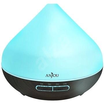 Anjou AJ-AD001 sötétbarna fa LED 300 ml - Aroma diffúzor